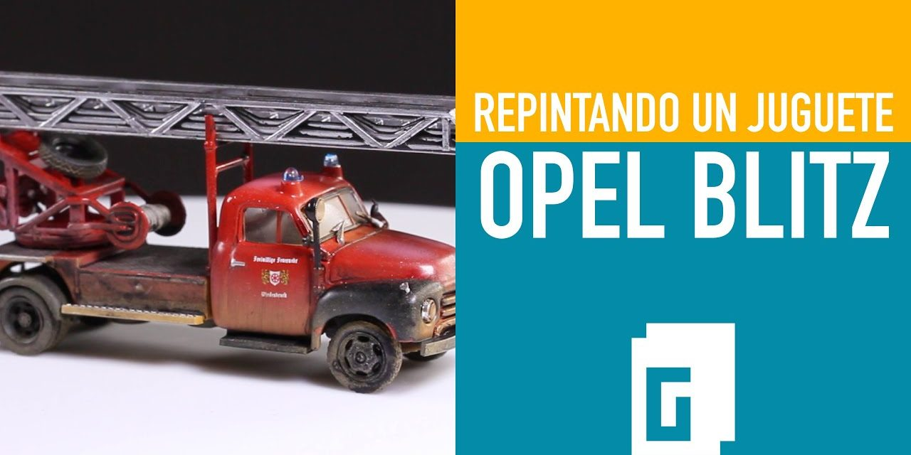 Opel Blitz. Repintando un juguete